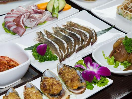 Các món hải sản vô cùng phong phú