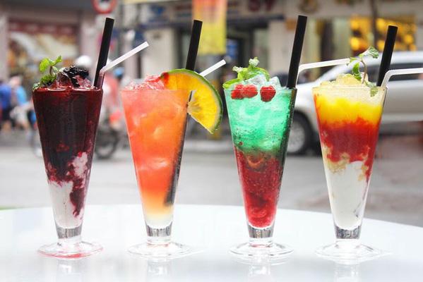 Menu đa dạng đồ uống