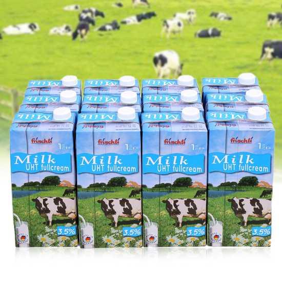 1 thùng 12 hộp sữa Frischli nguyên kem loại 1L