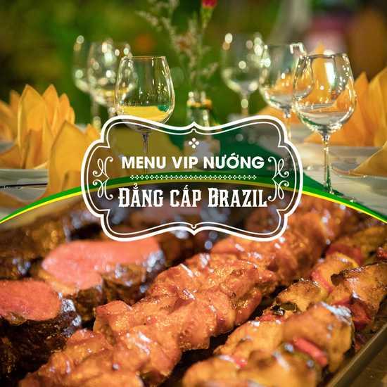 Buffet nướng đẳng cấp  Vườn nướng Brazil Menu VIP