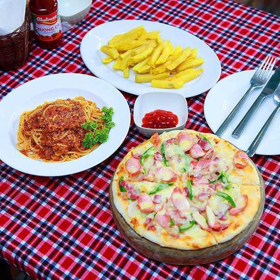 Set Pizza, Mỳ Ý kèm khoai tây chiên cho 2 người