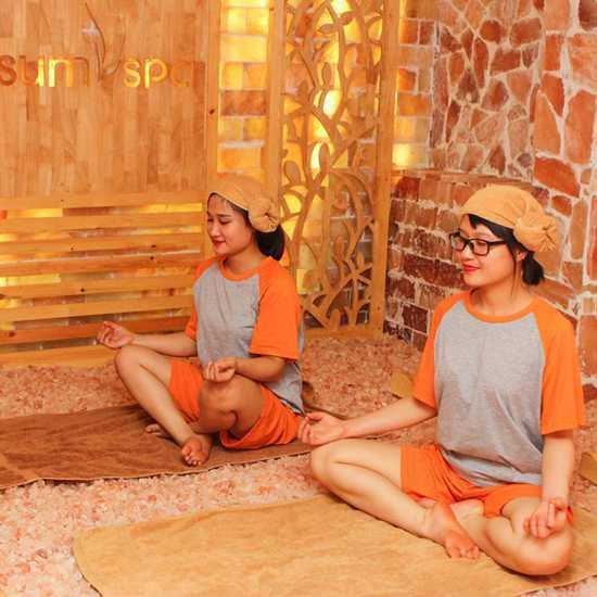 Xông hơi đá muối, hoàng thổ & massage thải độc