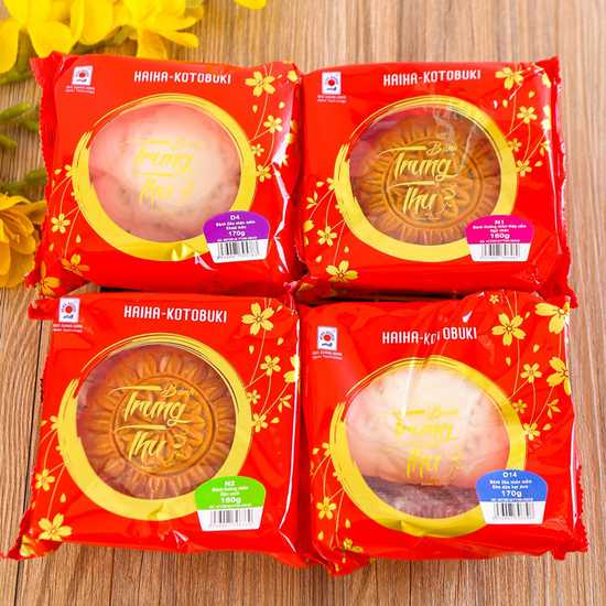 Set 4 bánh Trung thu Hải Hà Kotobuki N1,N2,D4,D14