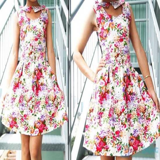 Đầm kiểu vải hoa - Sắc hoa tươi thắm nắng hè - Chỉ 130.000đ/ 1 chiếc