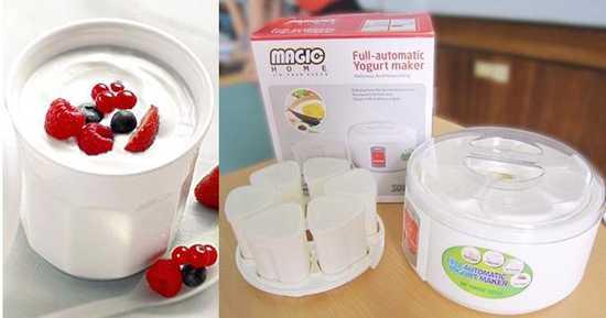 Thưởng thức sữa chua tự làm thật đã với máy làm sữa chua Magic Home MG-04, tặng kèm 06 cốc nhựa - Chỉ 215.000đ