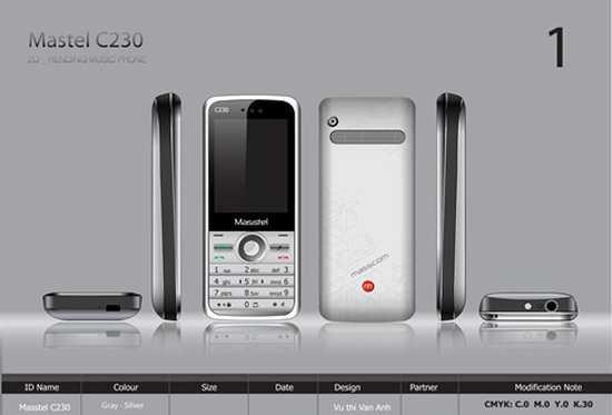 Điện thoại Masstel C230 hai sim hai sóng online quay video, ghi âm không giới hạn - Chỉ với 585.000đ