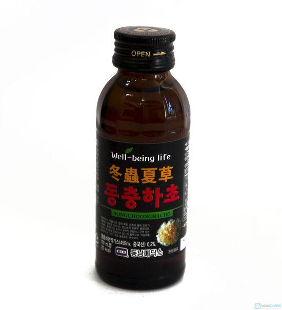 10 chai nước uống đông trùng hạ thảo Hàn Quốc, hộp 10 chai x 100ml