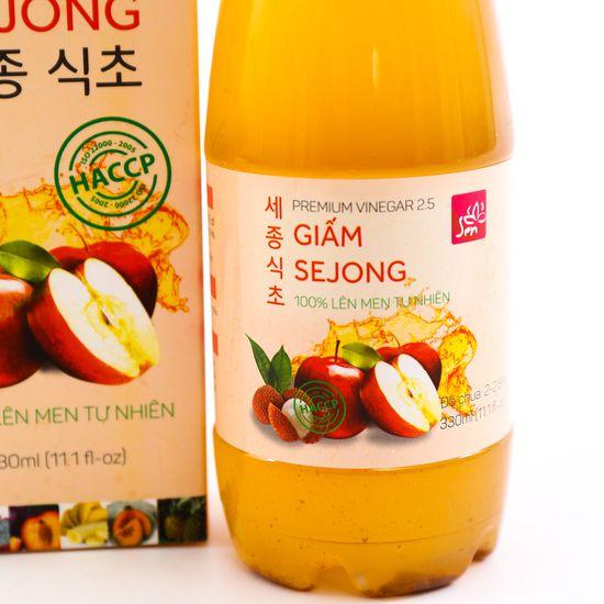 Giấm Sejong lên men tự nhiên - Bí quyết thon gọn