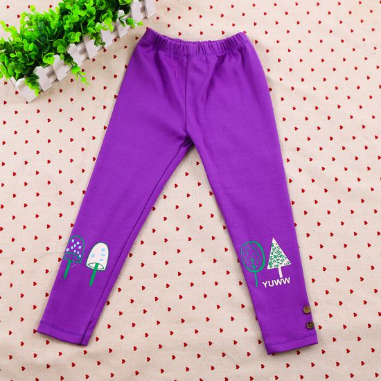 3 quần legging họa tiết, nhiều màu cho bé size 6-8