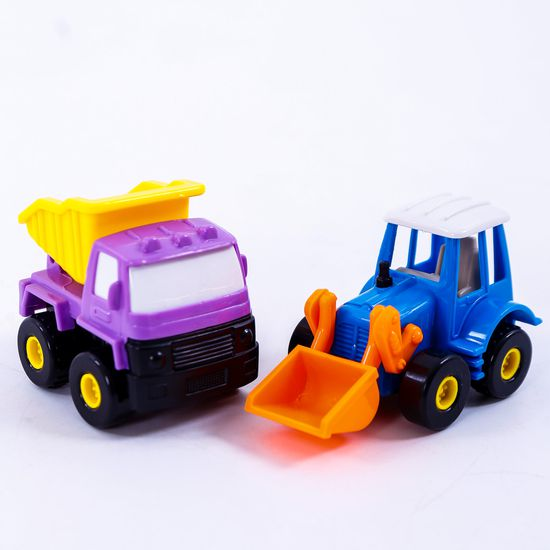 Bộ 6 xe công trình cỡ nhỏ - Bé tập làm công nhân