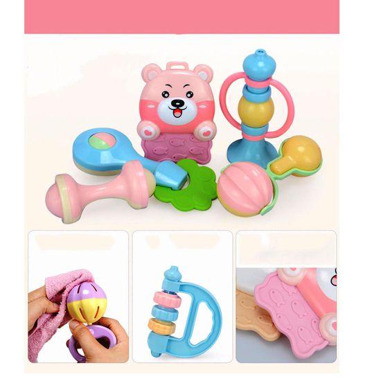 Bộ đồ chơi xúc xắc, lục lạc 10 món cho trẻ sơ sinh