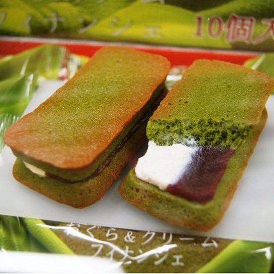 Bánh Matcha nhân hỗn hợp Nhật Bản