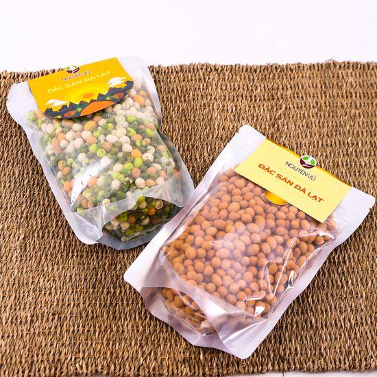 02 gói đậu phộng vị cốt dừa + thập cẩm Nguyên Vũ