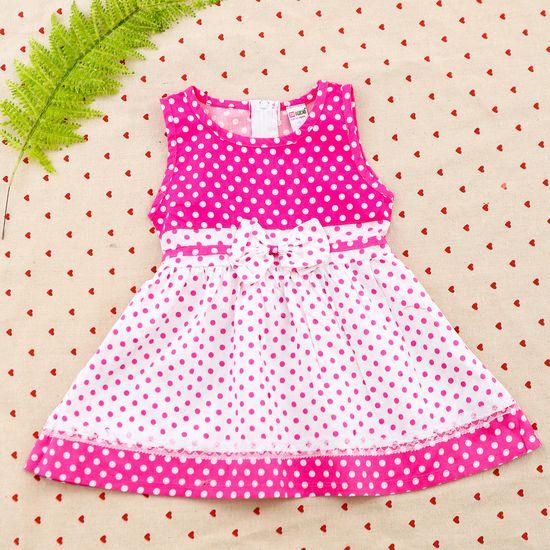 2 váy vải thô xinh xắn cho bé gái size từ 1-3