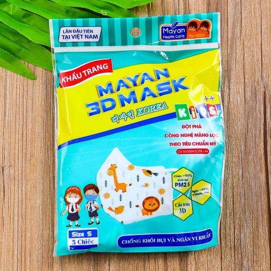 Combo 10 túi khẩu trang 3D cho trẻ em (5c/1 túi)