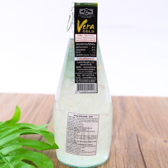 6 chai nước nha đam vị vải hoặc nho- NK Thái Lan