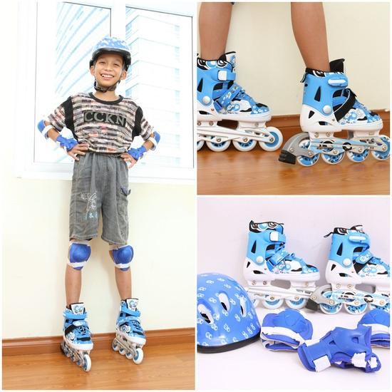 Cho bé vui chơi thật thoải mái với Bộ giầy trượt Patin chuyên dụng cho trẻ em an toàn và đáng yêu - Chỉ với 820.000đ