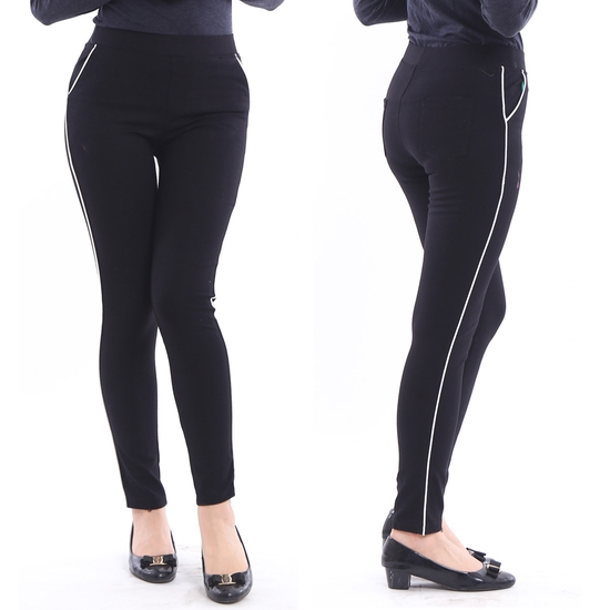 Quần legging sọc chất umi cho nữ - Mẫu mới 2017