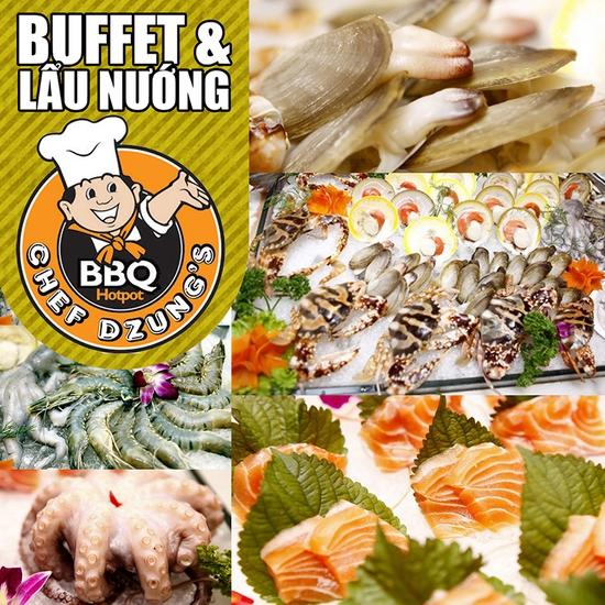 Nhà hàng Chef Dzung's - Buffet Nướng và Lẩu không khói hàng đầu tại Hà Nội - Chỉ 224.000đ/người