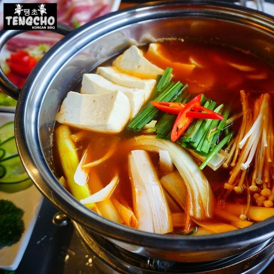 Buffet lẩu Tengcho ăn không giới hạn free trà quất