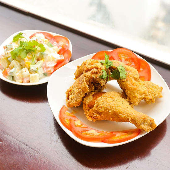 Set 3 miếng gà chiên (cay/không cay) kiểu Hàn Quốc