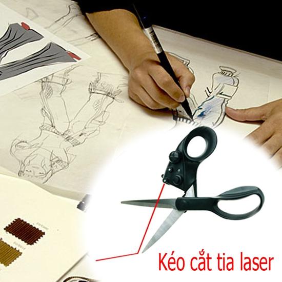Kéo cắt laser - giúp bạn cắt thẳng mà không cần đo trên nhiều chất liệu - Chỉ 69.000đ/ 01 chiếc