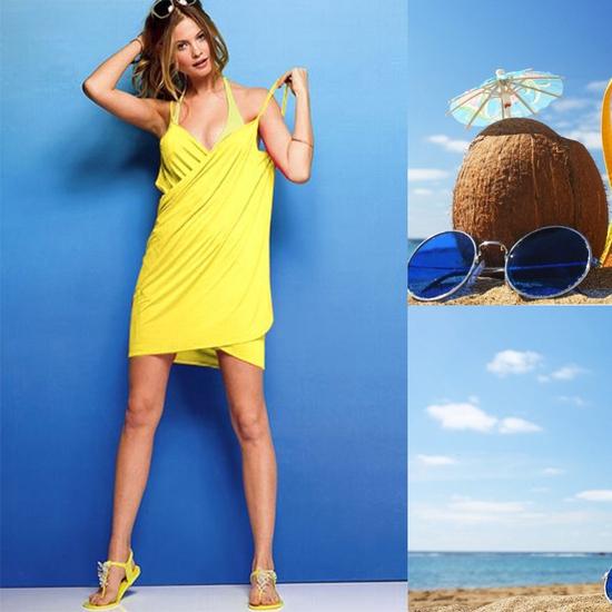 Váy kèm khăn đi biển 2 trong 1