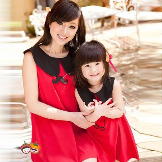 Đầm đôi cho mẹ và bé đón xuân và noel