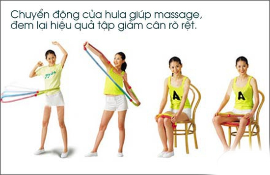 Eo thon dáng đẹp hơn khi có vòng lắc massage Hula Hoop – Chỉ Với 98.000đ