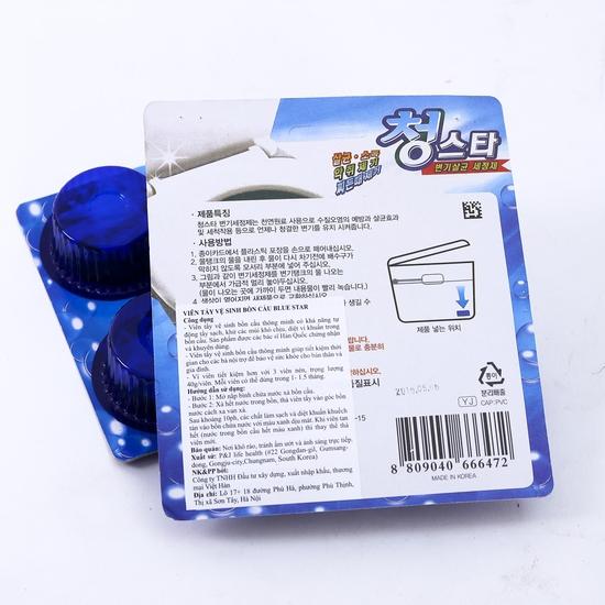 Set 6 viên tẩy vệ sinh bồn cầu Blue Star Hàn Quốc