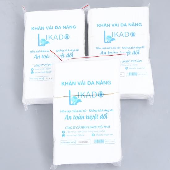 3 bịch khăn vải khô mềm mại, an toàn cho da