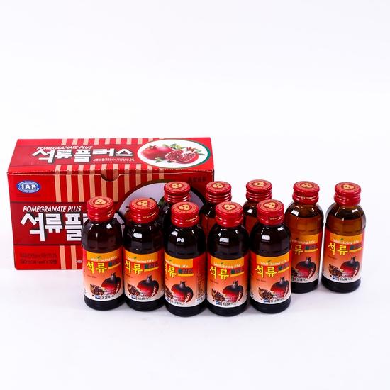 Hộp 10 chai nước hoa quả không ga HQ bổ dưỡng