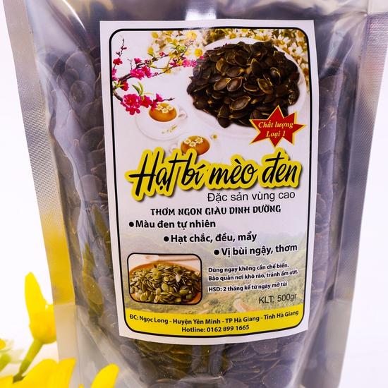 500g hạt bí Mèo đen đặc sản vùng cao loại 1