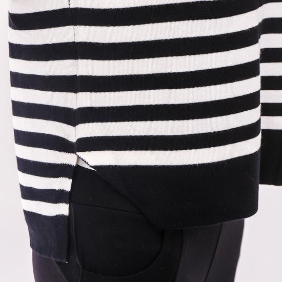 Áo len kẻ ngang vạt lệch trẻ trung-hàng Quảng Châu