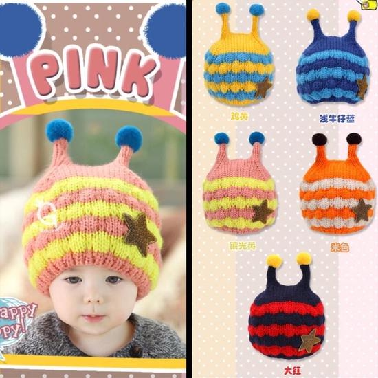 Set khăn ống+ mũ len ốc sên xinh yêu, ấm áp cho bé