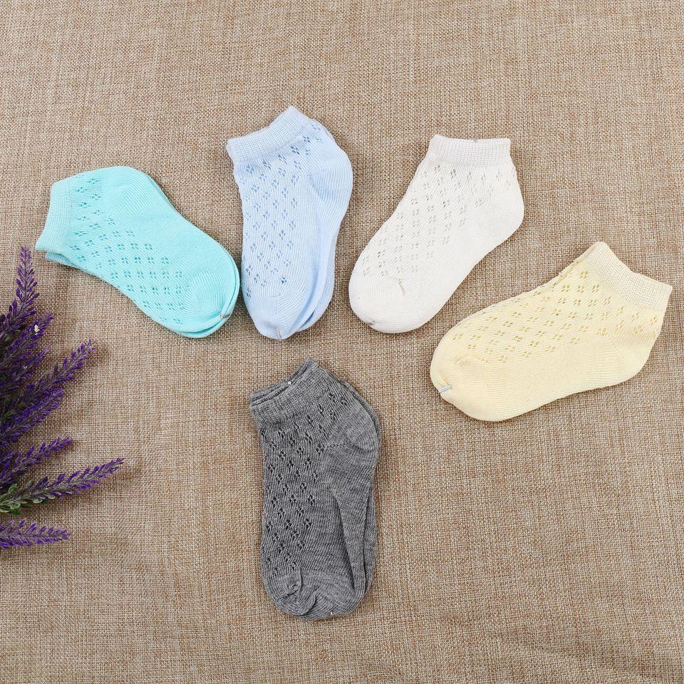 Combo 5 đôi tất cotton lưới cho bé
