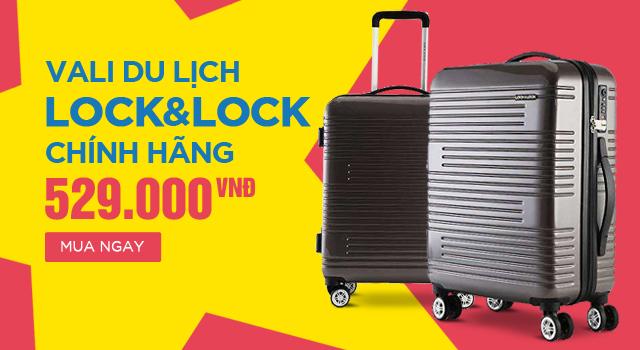 Vali du lịch 20inch Lock&Lock LTZ930GRY (Hàng khuyến mãi tặng kèm)