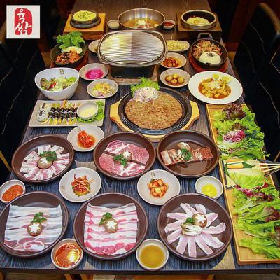 Buffet nướng đặc sắc với hơn 40 món ăn thượng hạng đậm chất Hàn Quốc