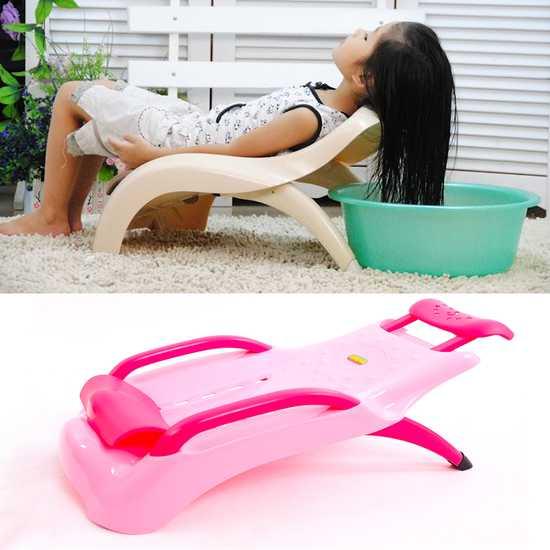 Ghế gội đầu an toàn cho bé chất nhựa bền chắc
