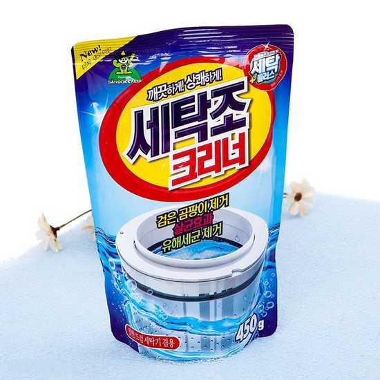 Bột tẩy vệ sinh lồng máy giặt Hàn Quốc gói 450gr