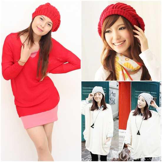 Mũ len bere thời trang cho bạn gái - Chỉ với 60.000đ