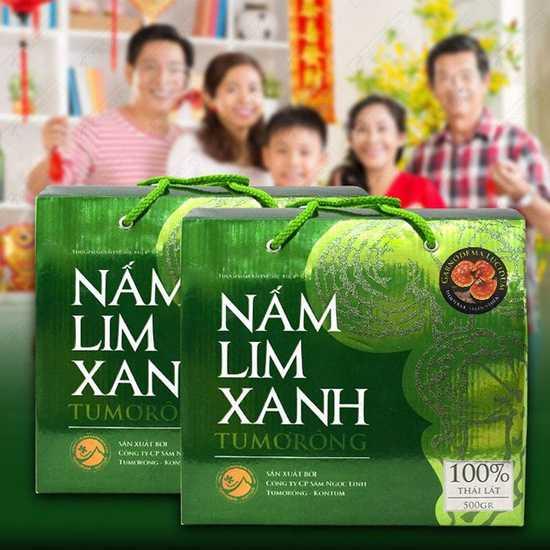 Hộp 500gr nấm lim xanh 100% thái lát tự nhiên