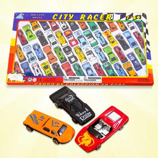Vỉ 50 ô tô nhiều màu - Bộ sưu tập xe của bé