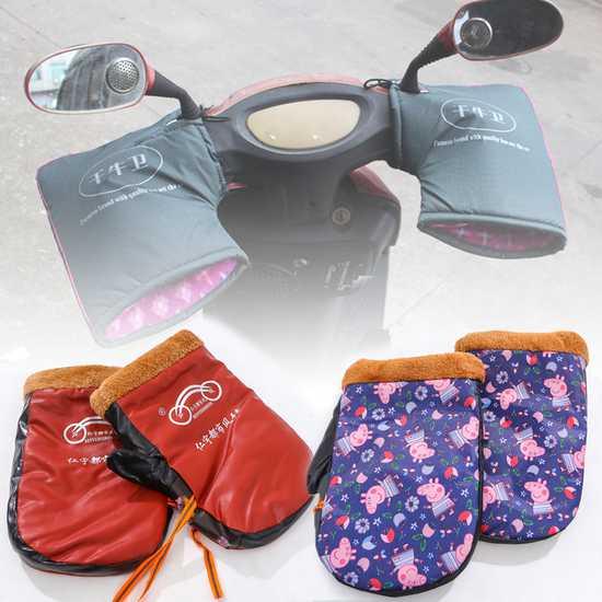 Găng tay lót lông dày dặn dùng cho lái xe máy
