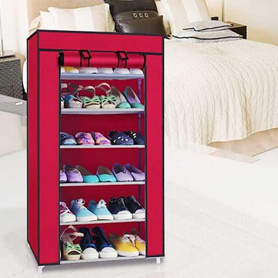 Tủ giầy bọc vải 6 tầng tiện dụng cho mọi gia đình