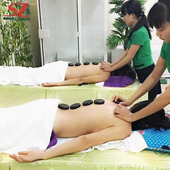 Xông hơi, massage body đá nóng + tinh dầu thư giãn Spa Song Linh