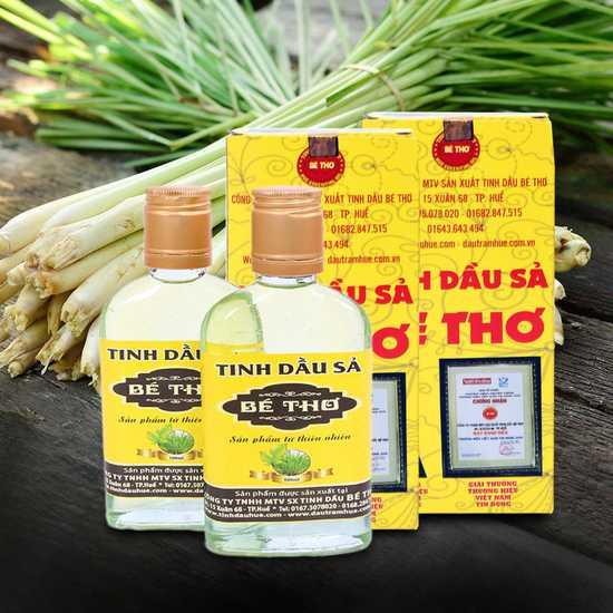 Tinh dầu sả Bé Thơ 100ml - Tinh túy từ thiên nhiên