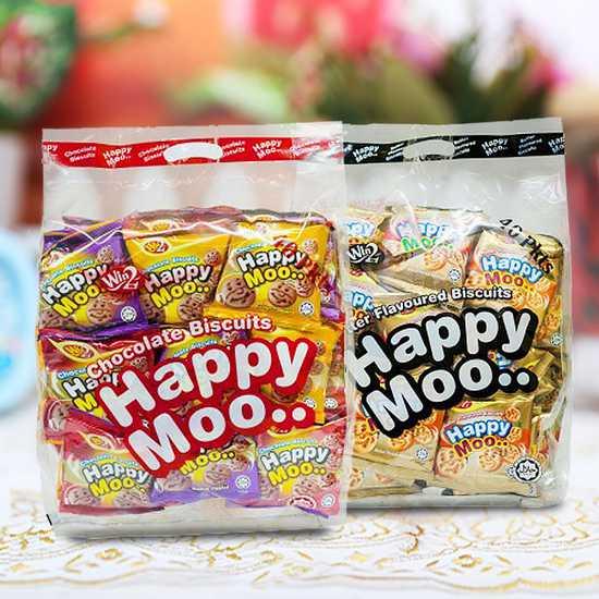 Combo 2 bịch bánh Happy Moo thơm, giòn-NK Malaysia