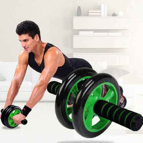 Con lăn tập thể dục Double Wheel kèm thảm