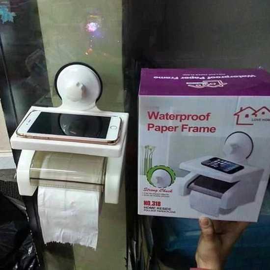 Hộp đựng giấy có khay để điện thoại tiện ích